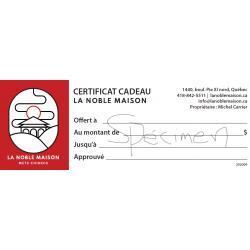 Certificat Cadeau Restaurant