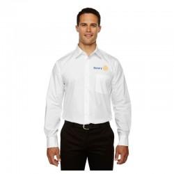 Chemise à manches longues pour homme en coton résistant