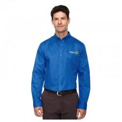 Chemise à manches longues pour homme en coton twill
