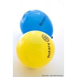 Ballons de fêtes en latex non perlé (jaune)