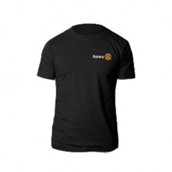 T-shirt noir coton